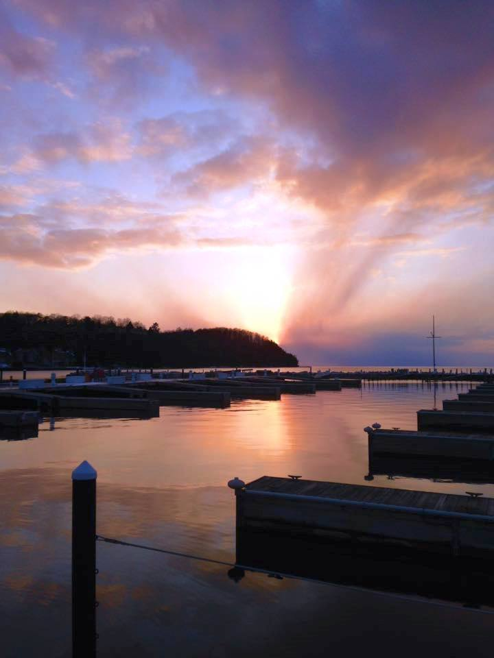 Sister Bay Marina Sunset
