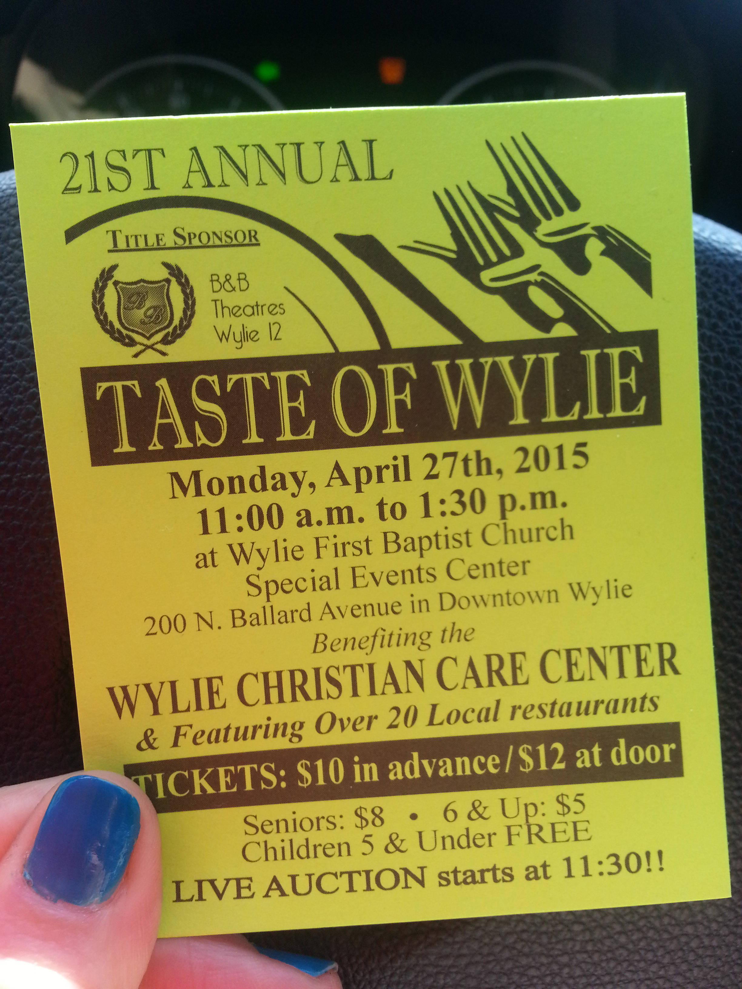Taste of Wylie 2015