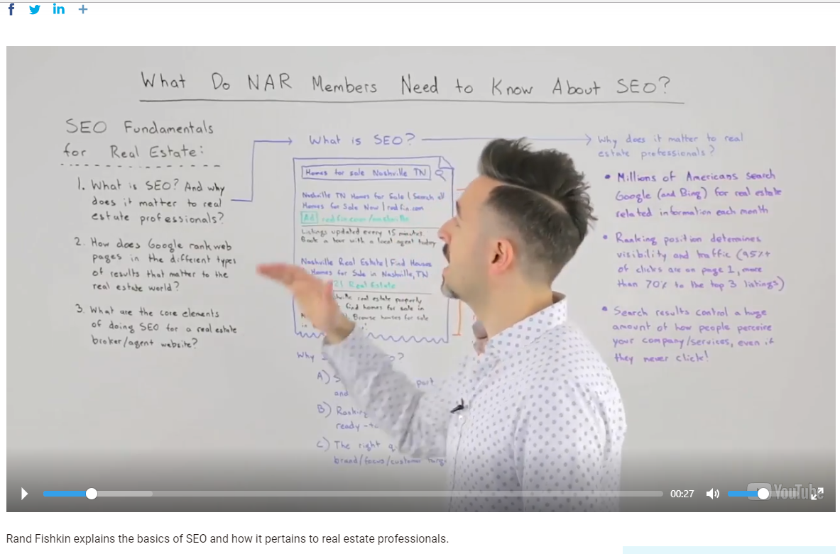 SEO for Realtors by Rand Fishkin