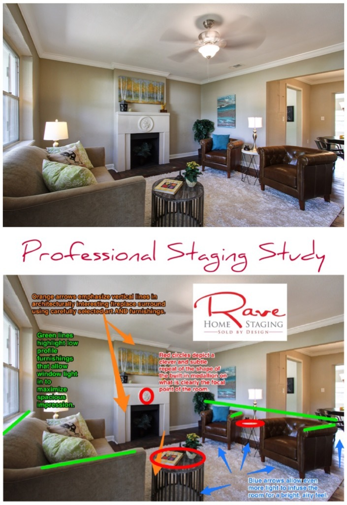 a Professional Staging Study by Rave Home Staging