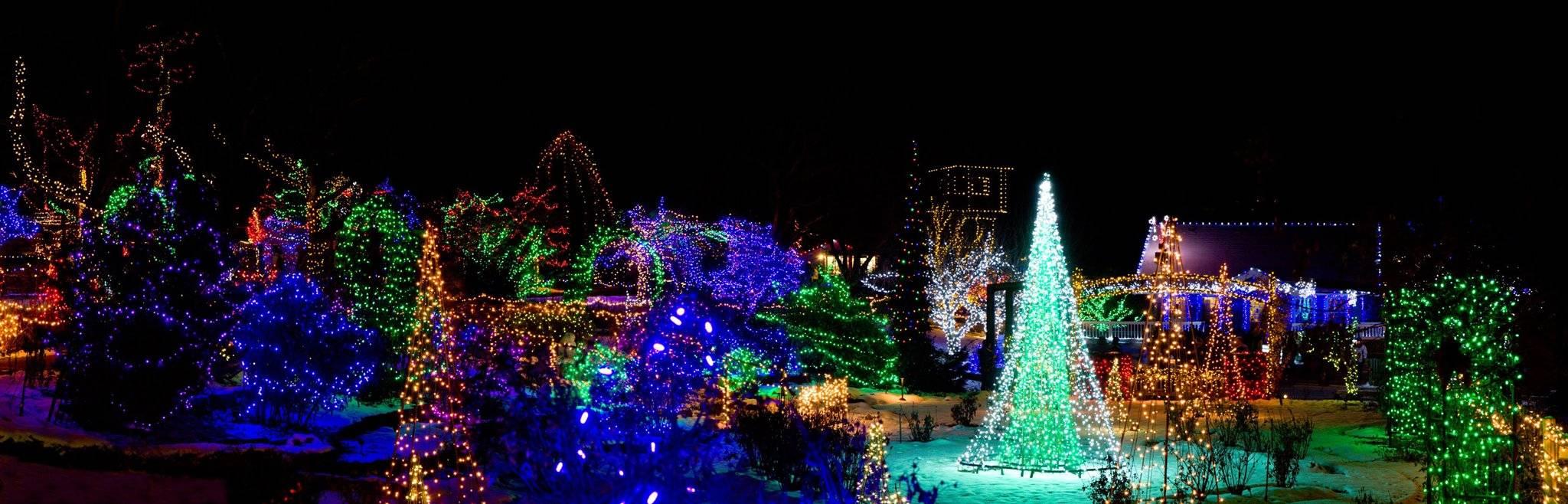 Garden Aglow Boise Winter Idaho Botanical Garden Mega