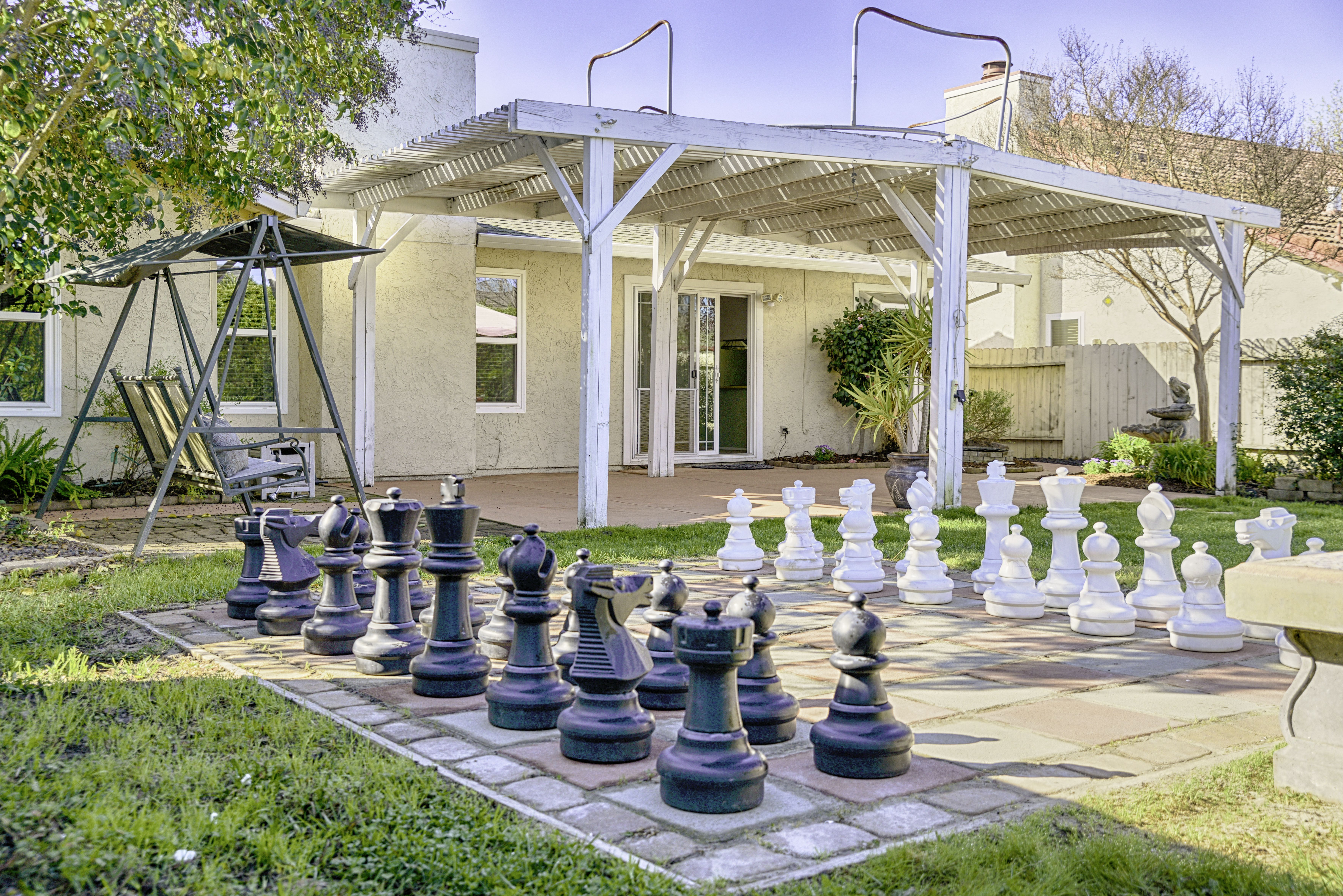 Chess set in Elk Grove starter home