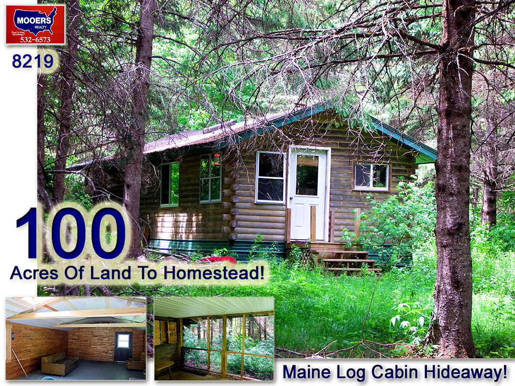 log camps cabins in maine for sale homestead on 100