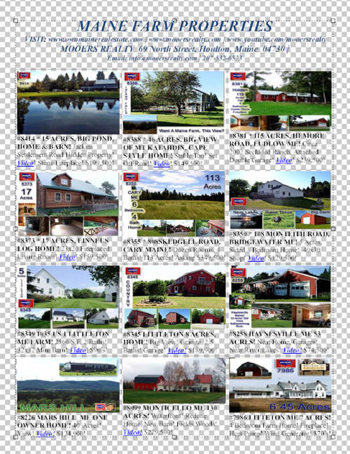 maine farm property for sale sampler photo