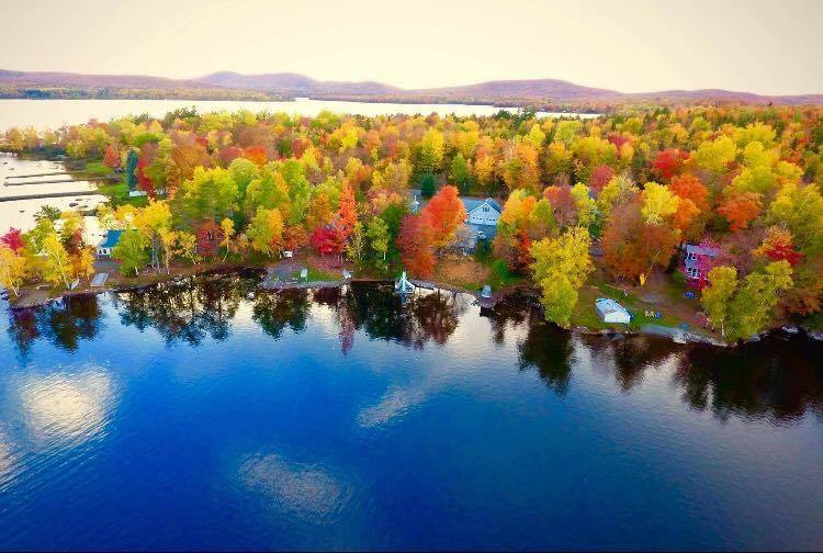 maine lake front properties photo