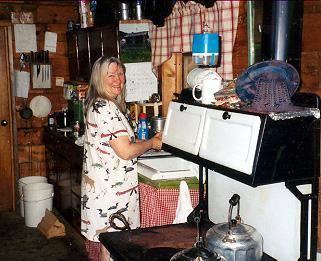 maine log camp cooking photo