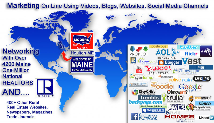 maine real estate world map photo