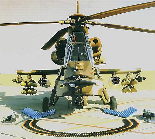 helicopter loaded with weapons photo