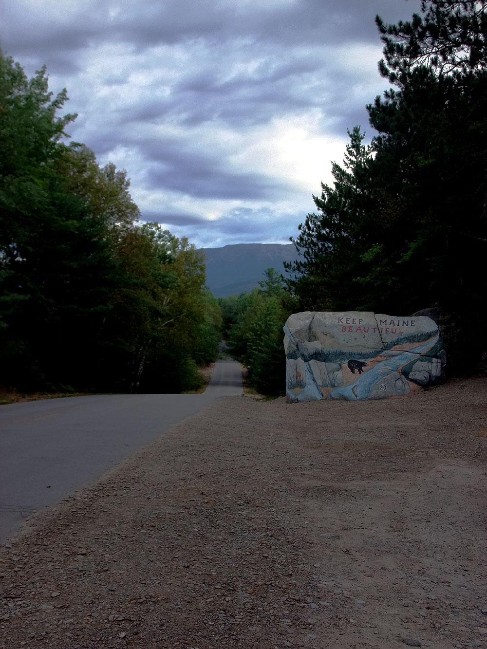 maine welcome rock photo