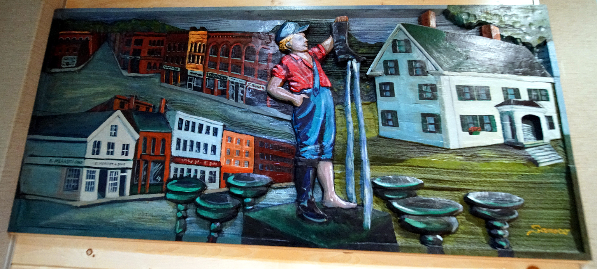 houlton me wood carving photo