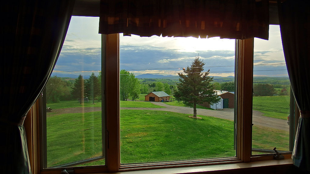 view from maine log home photo
