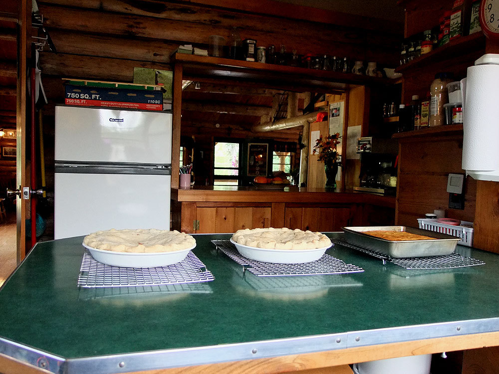 pies cooling in maine photo