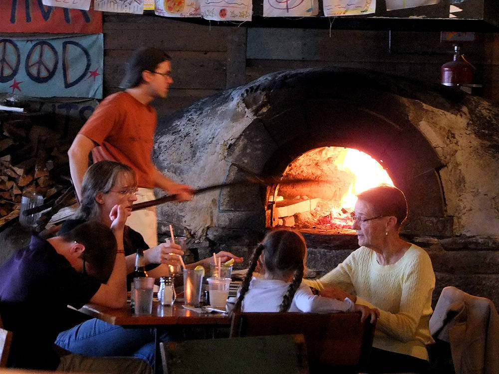 wood fireplace pizza oven