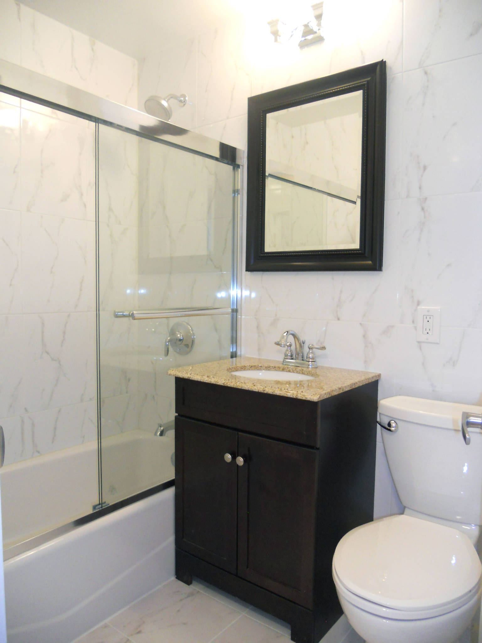 Renovated Bathroom for One Bedroom Rental at 155 West 68th Street the Dorchester Towers Condominium