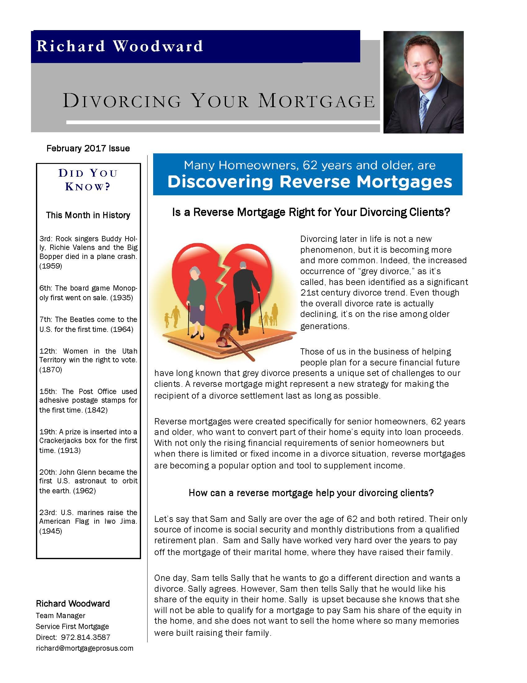 Divorcing your mortgage Feb 2017