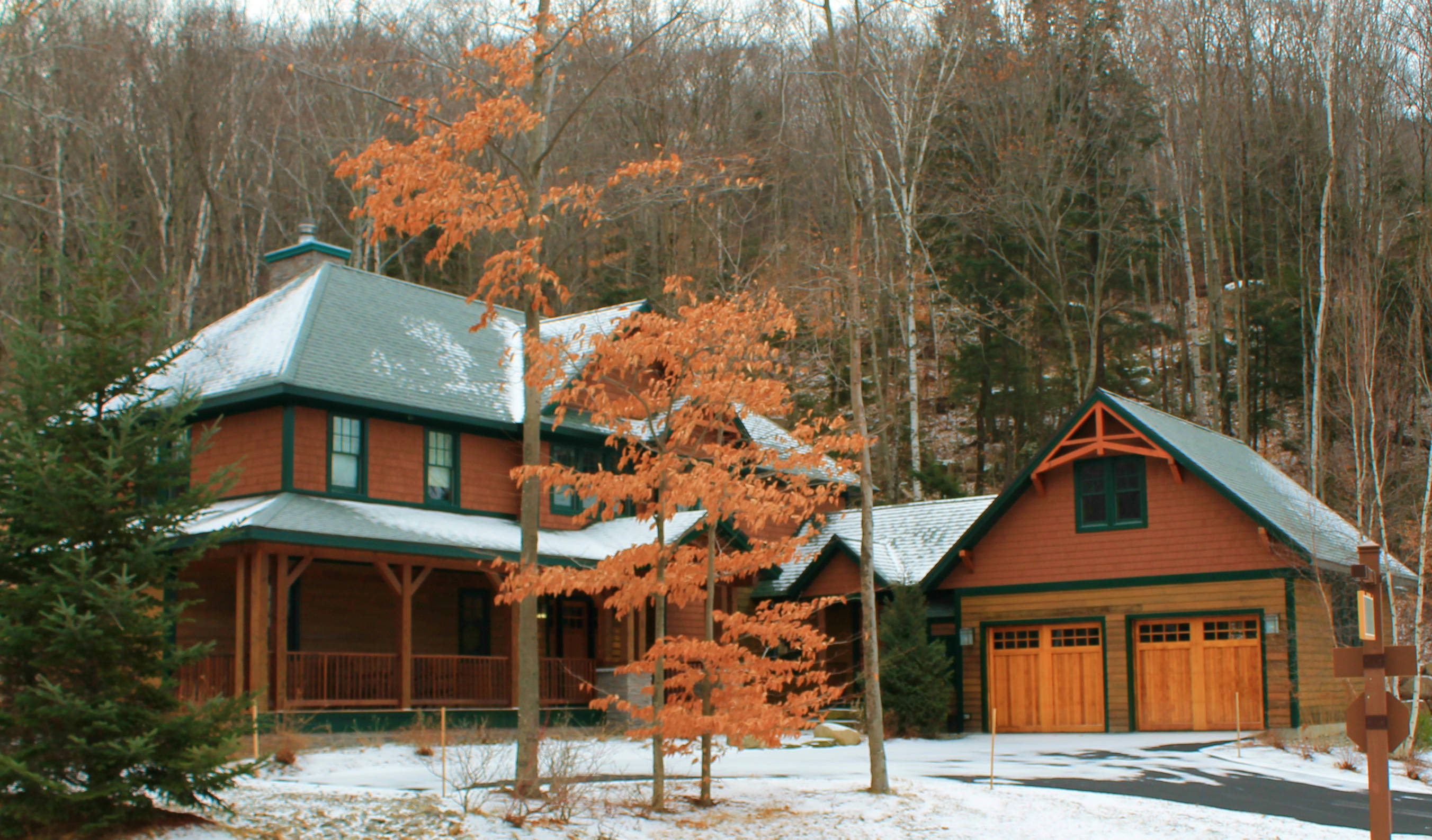 Slope side custom homes at loon mountain new hampshire for Home builders in new hampshire