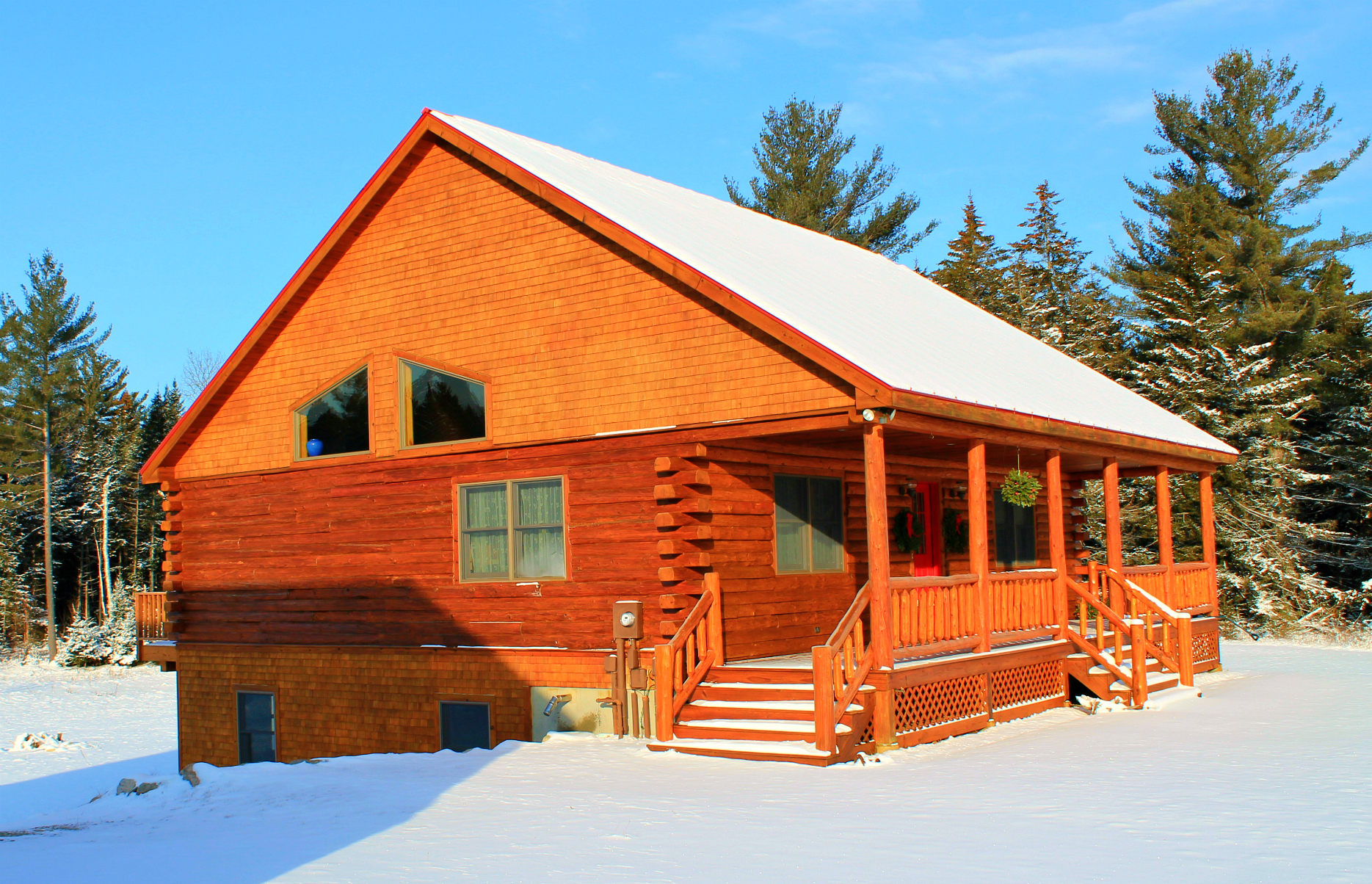 Custom built log home bretton woods area new hampshire Log homes in new hampshire