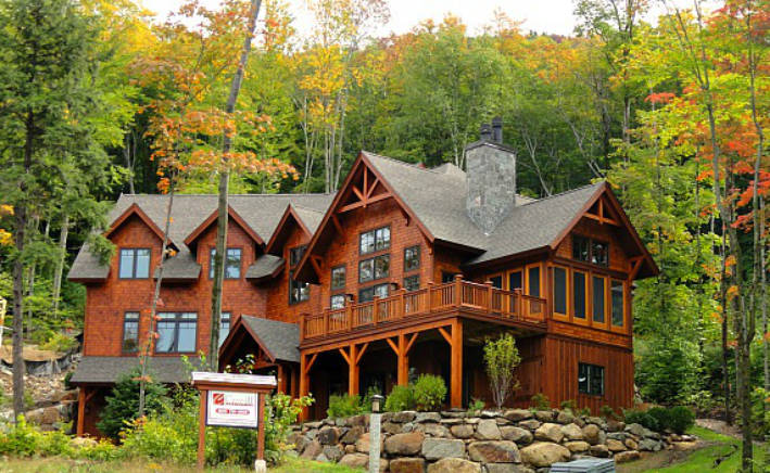 Slope side custom homes at loon mountain new hampshire for New construction in nh