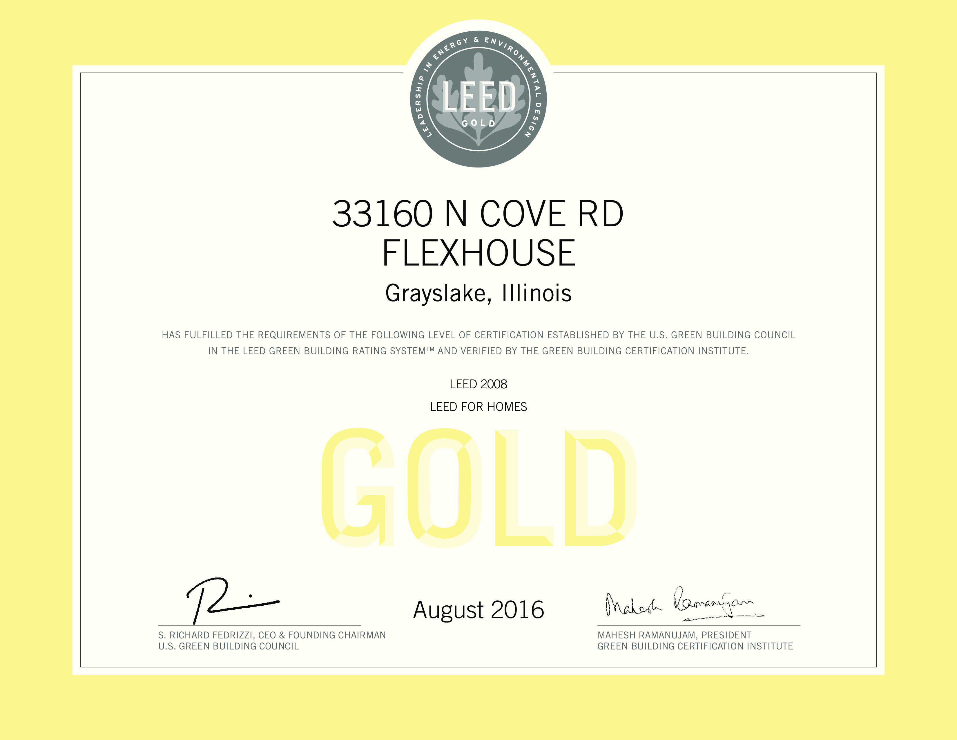 For Sale Leed Gold Green Home