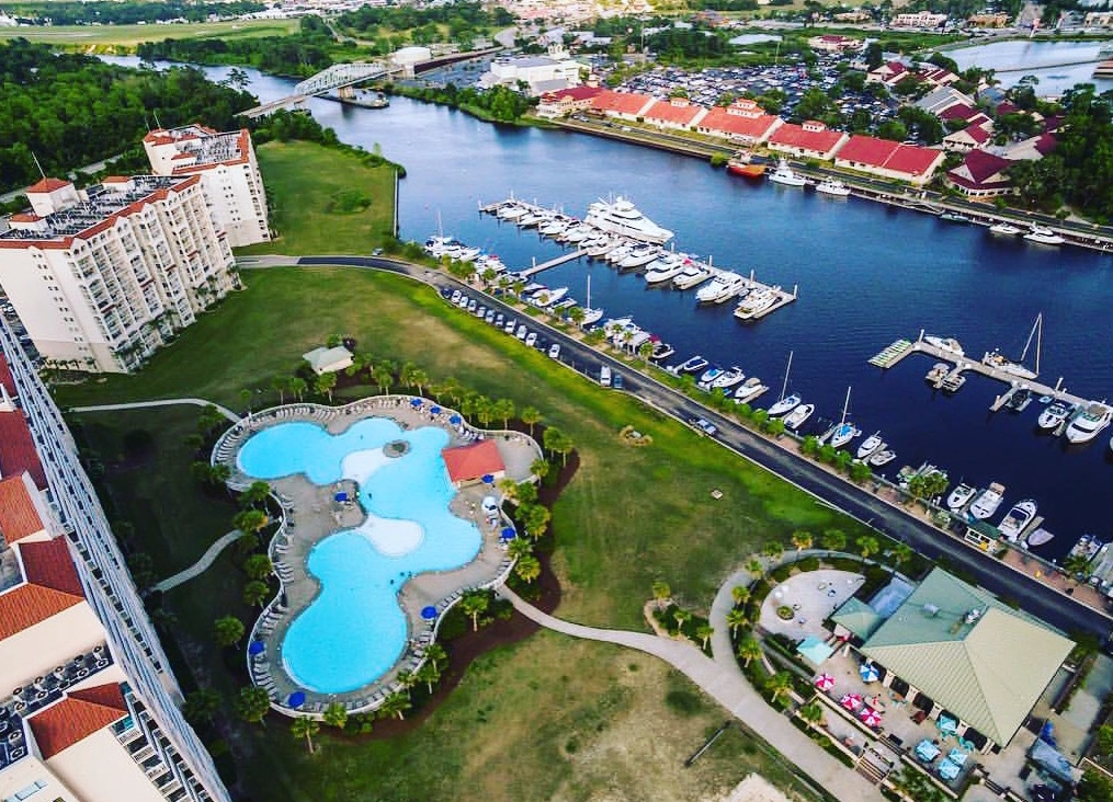 Aerial Views Of Barefoot Resort In North Myrtle Beach