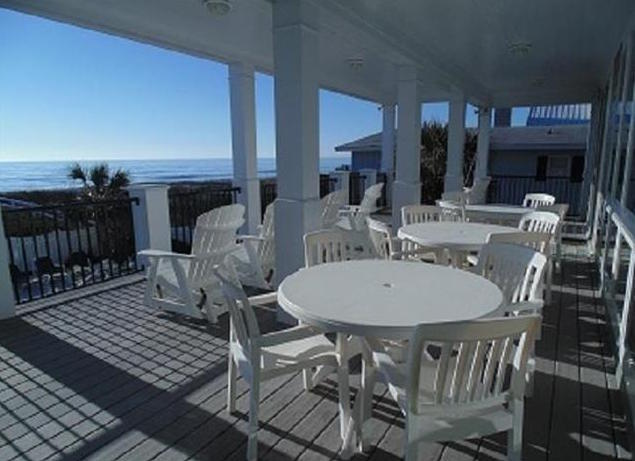 view of the Atlantic Ocean from the back porch of the most expensive home sold in Myrtle Beach