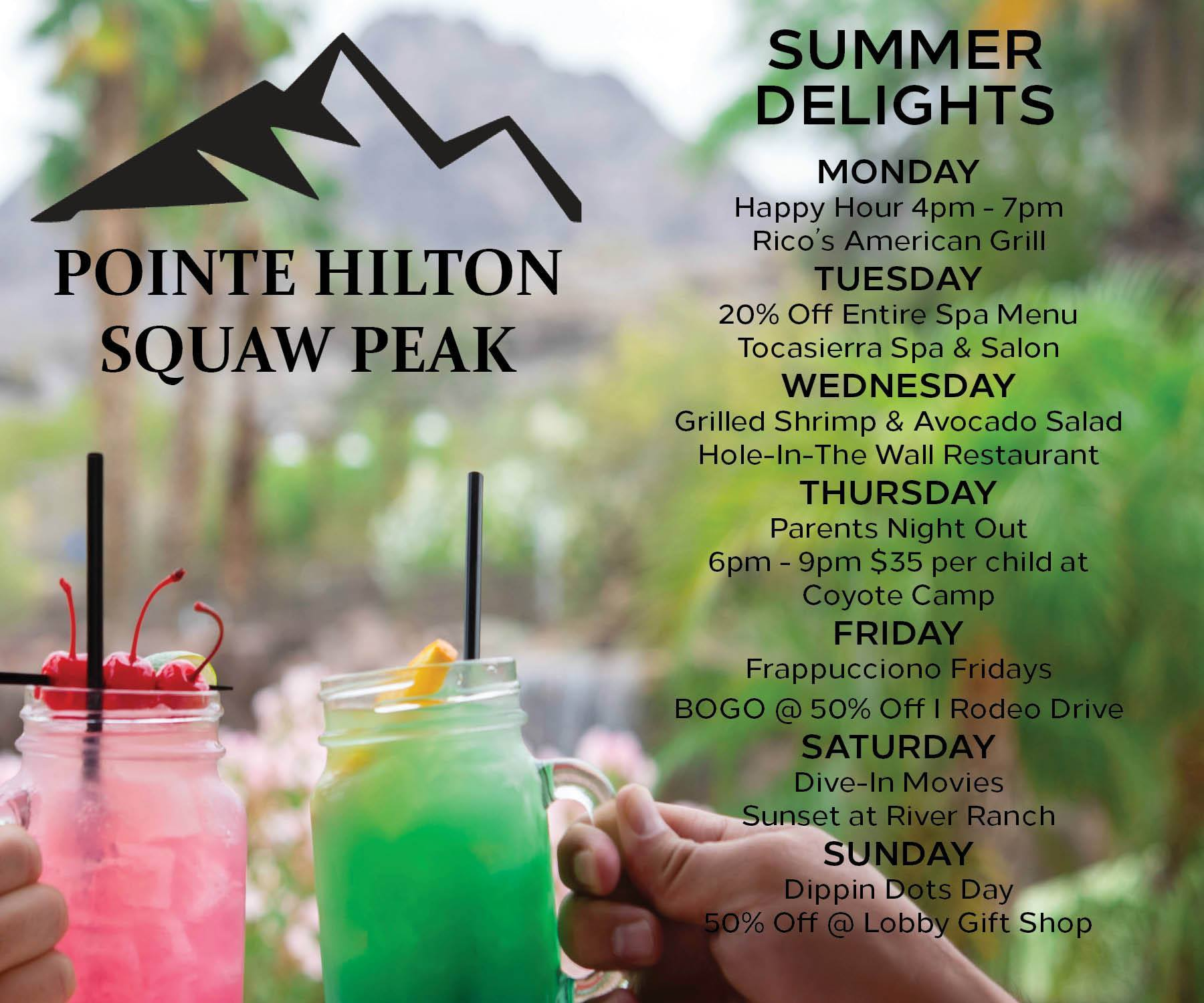 Summer Delights at the Pointe Hilton Squaw Peak Resort