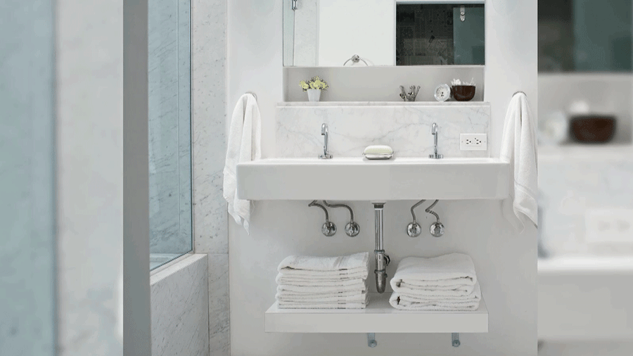 Approaches to make a small bathroom appear bigger - Making small spaces look bigger plan ...