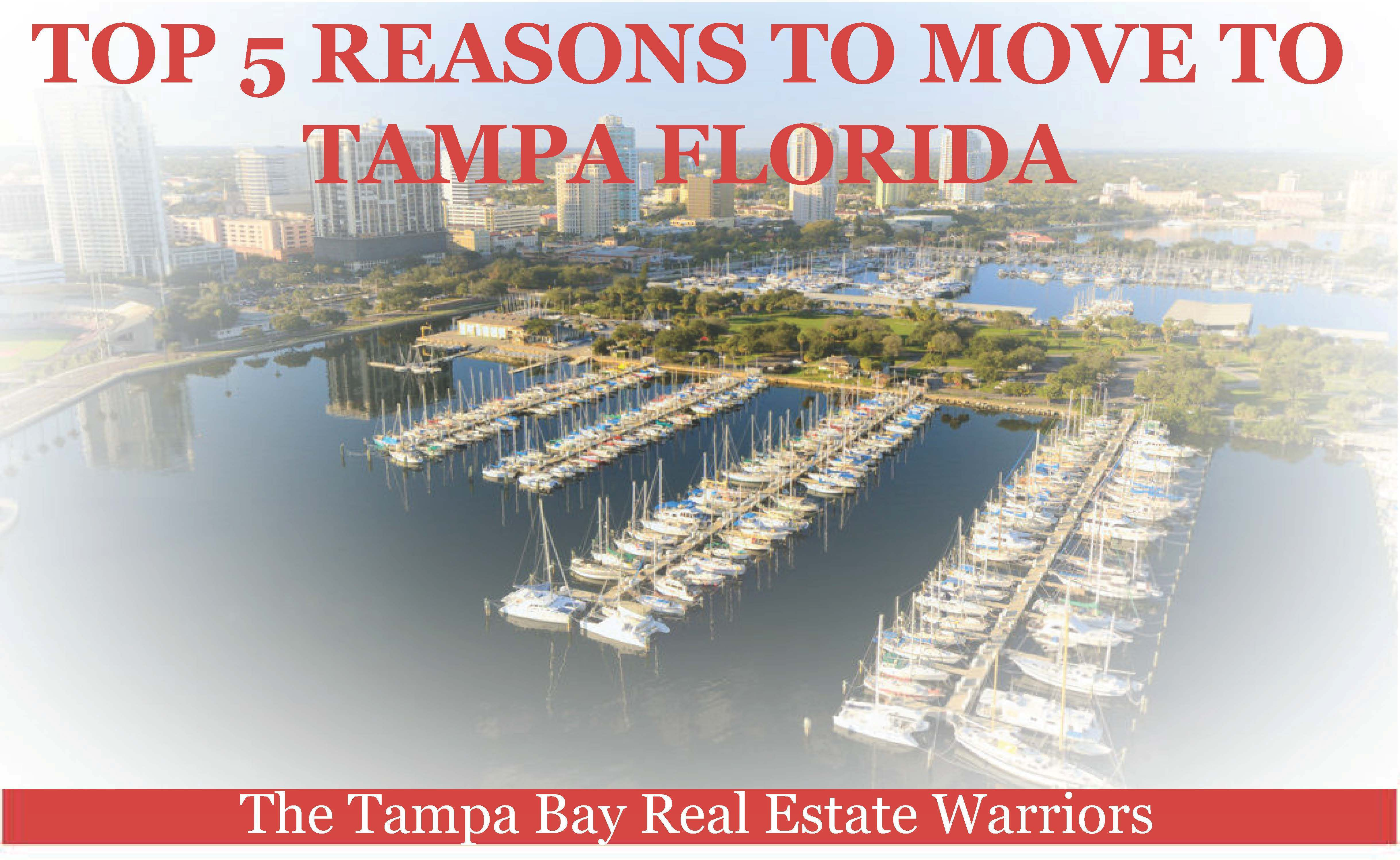 Top 5 reasons to move to tampa for Best place to move in florida