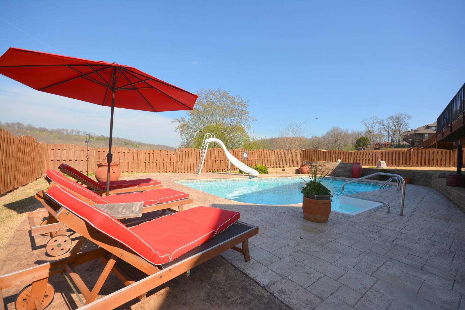 Creekstone home for sale in bentonville with pool basement for Bentonville pool