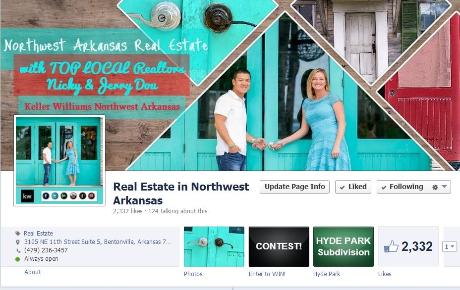 Real Estate in NWA - ON FACE BOOK -- Like Our Page!