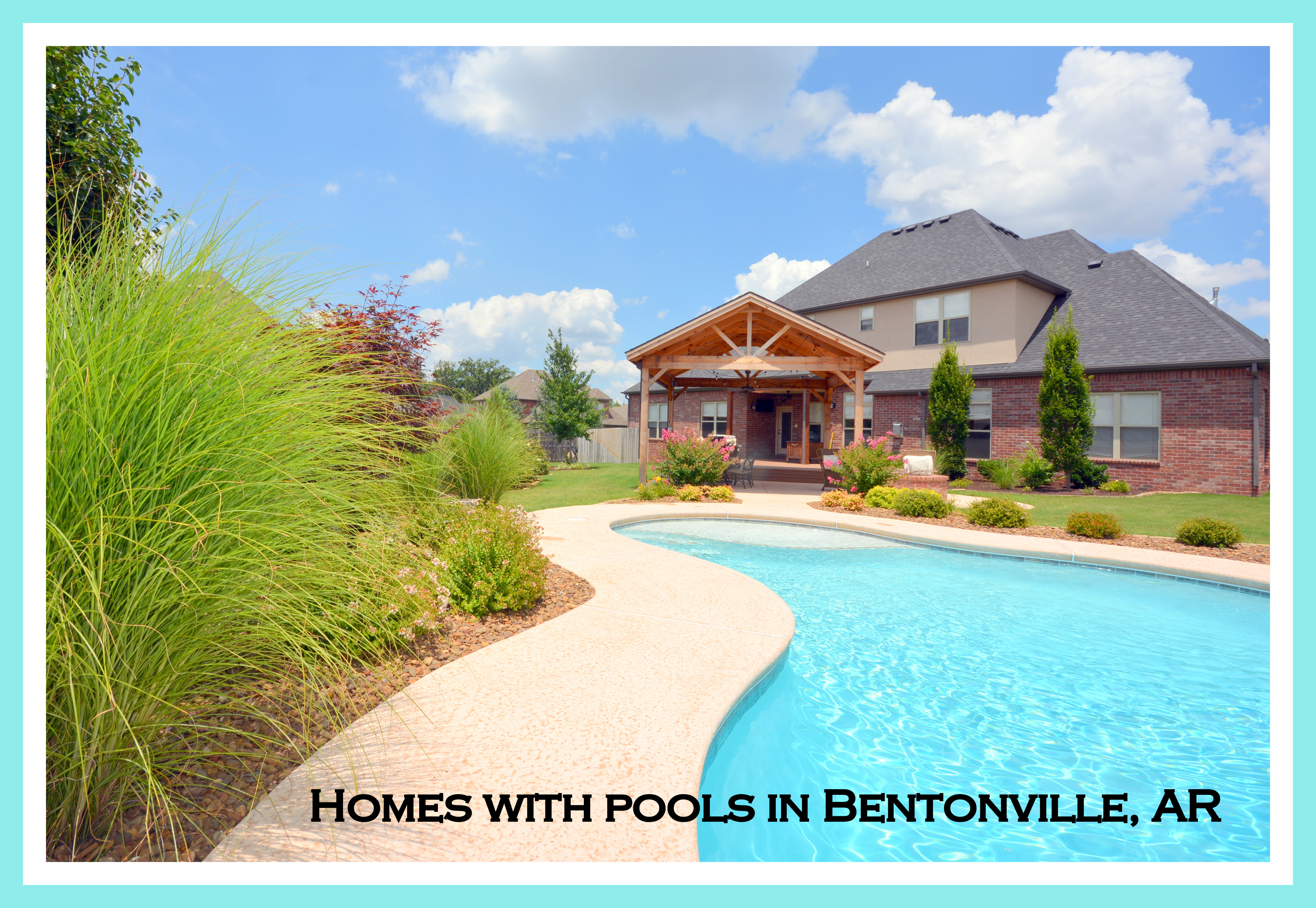 Bentonville homes for sale with pools for Bentonville pool