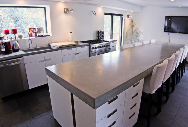 How to choose the right counter top for your home for Concrete kitchen countertops reviews