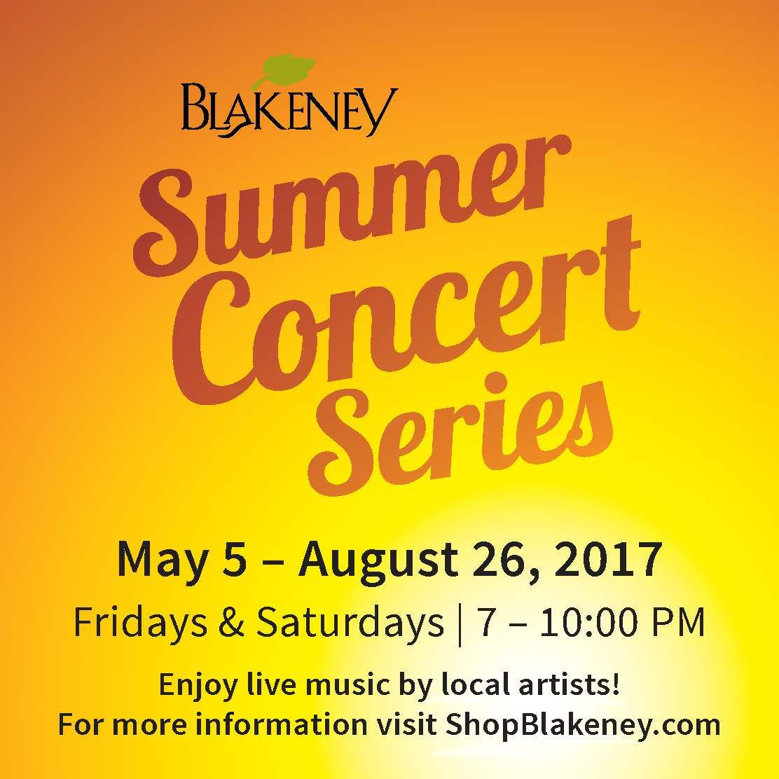 Summer Music Concert 2017: Free Summer 2017 Concerts In Charlotte, NC's Ballantyne