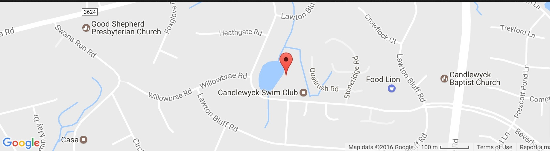 candlewyck in south charlotte map