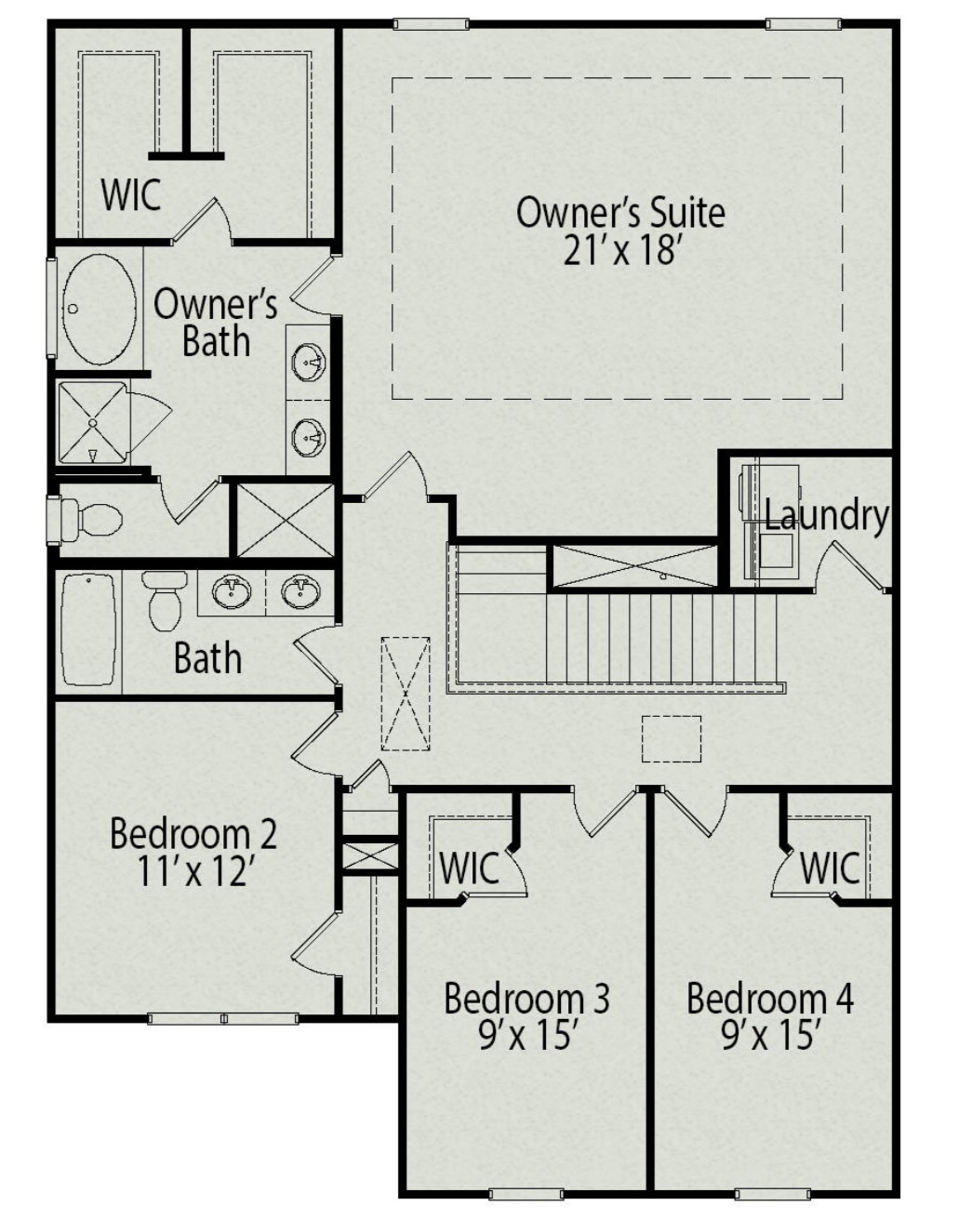 Second floor Buffington Plan Cramerton Mills Parkway