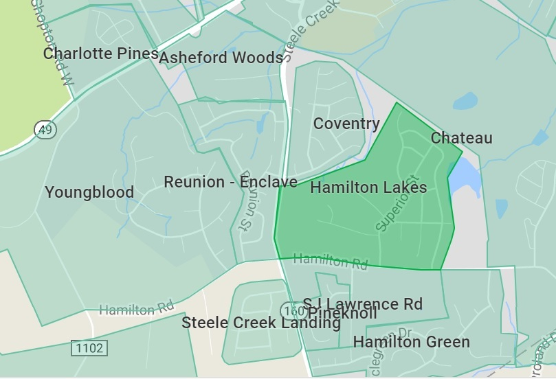 Hamilton Lakes in southwest Charlotte a hot neighborhood