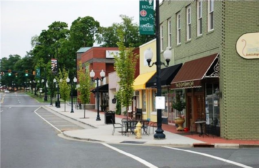 Main Street In Historic Pineville, NC