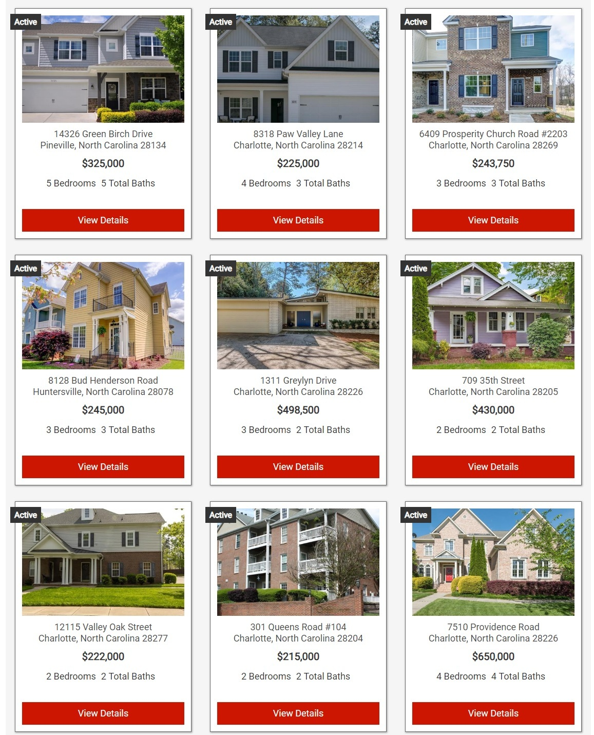 Search Mecklenburg Count Homes For Sale