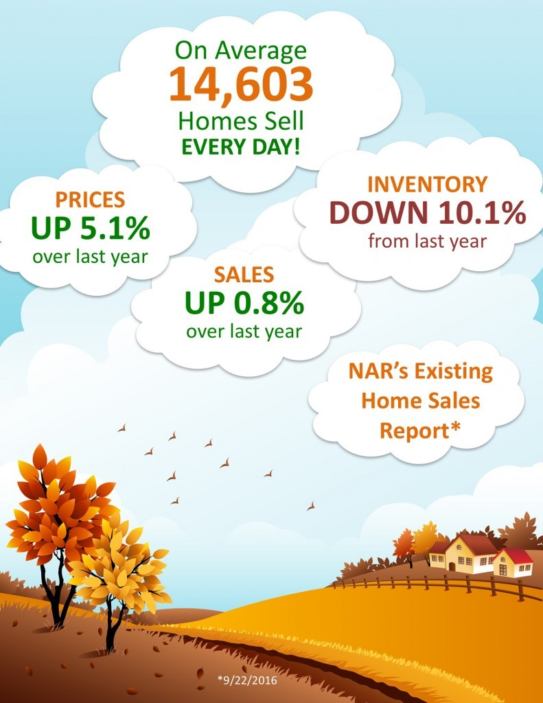 Housing Market Overview From National Association of Realtors for September 2016 Infographic