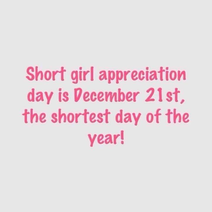 December 21 is National Short Girl Appreciation Day