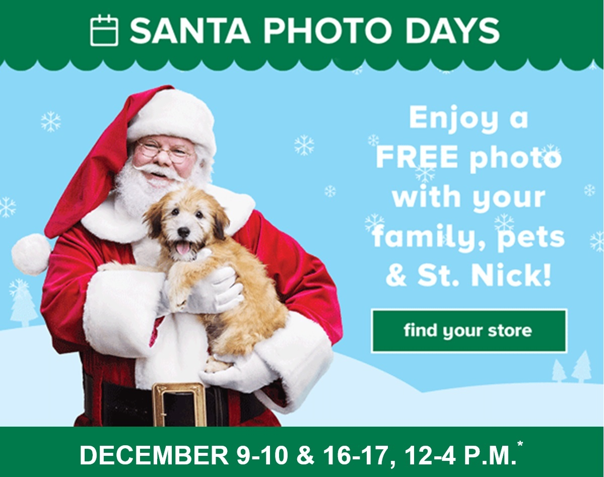 Santa Photo Days At Petsmart In Charlotte Area