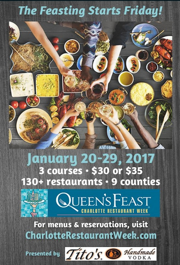 Charlotte, NC Queen's Feast Restaurant Week  2017