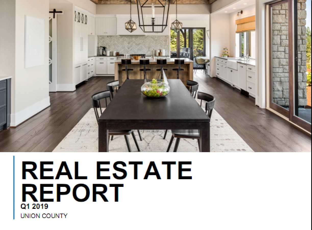 Real Estate Report: Union County, NC Quarter 1 2019