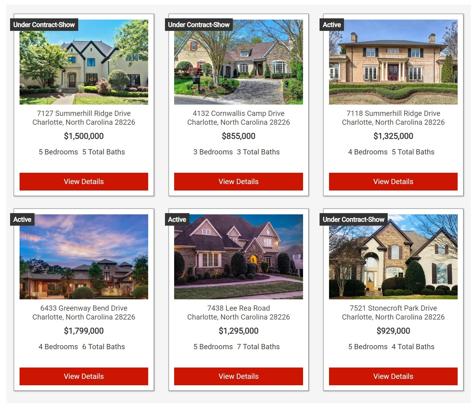 Search homes for sale in Charlotte's Stonecroft