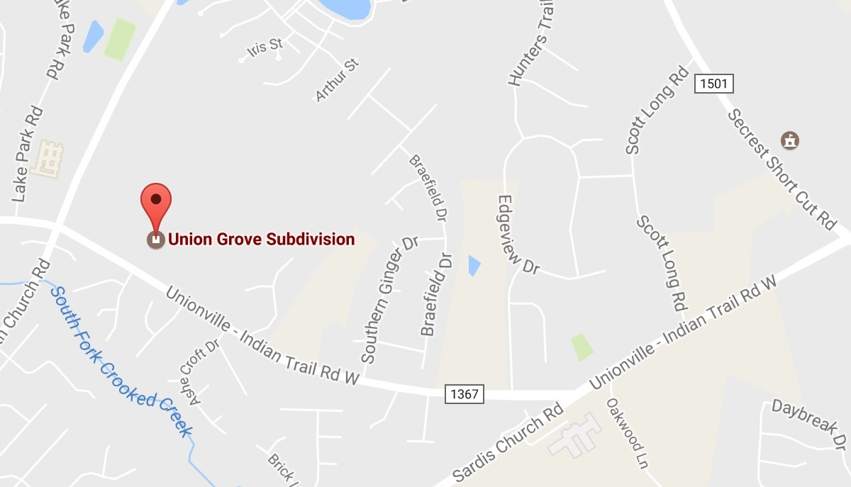Union Grove Subdivision In Indian Trail, NC