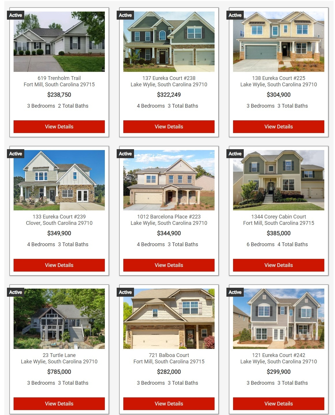 Search York County, SC Homes For Sale