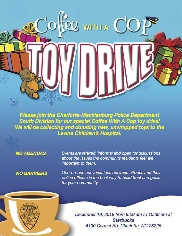 Coffee With A Copy Toy Drive In South Charlotte/Ballantyne