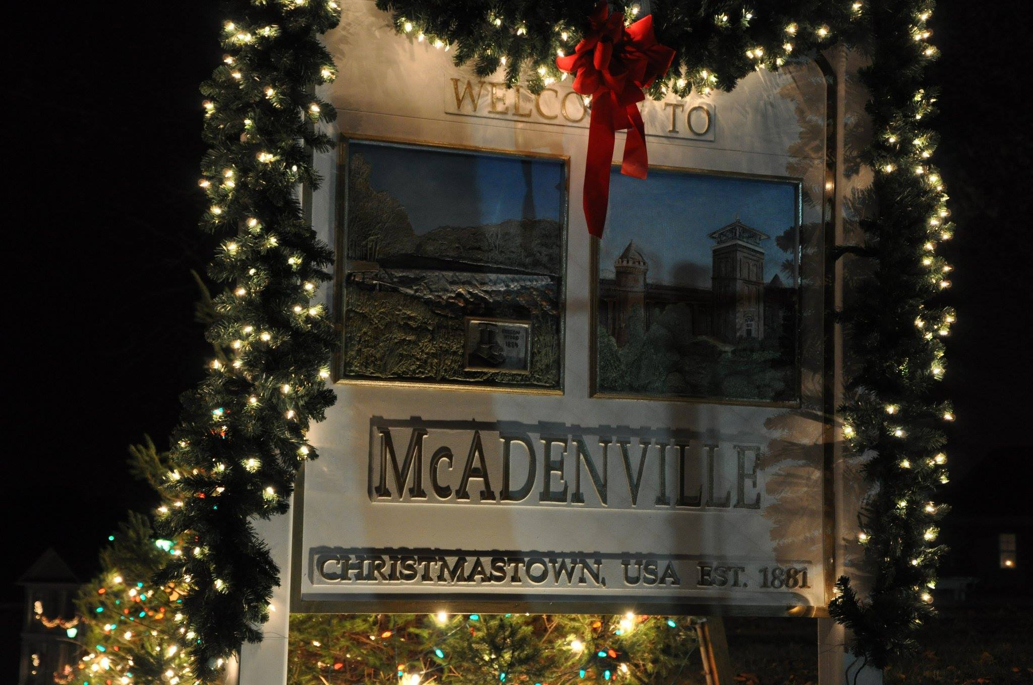 Mcadenville Christmas Lights.2016 Christmas Light Festival In Christmas Town Usa