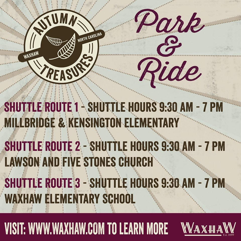 Park & Ride At Waxhaw's Autumn Treasures Festival