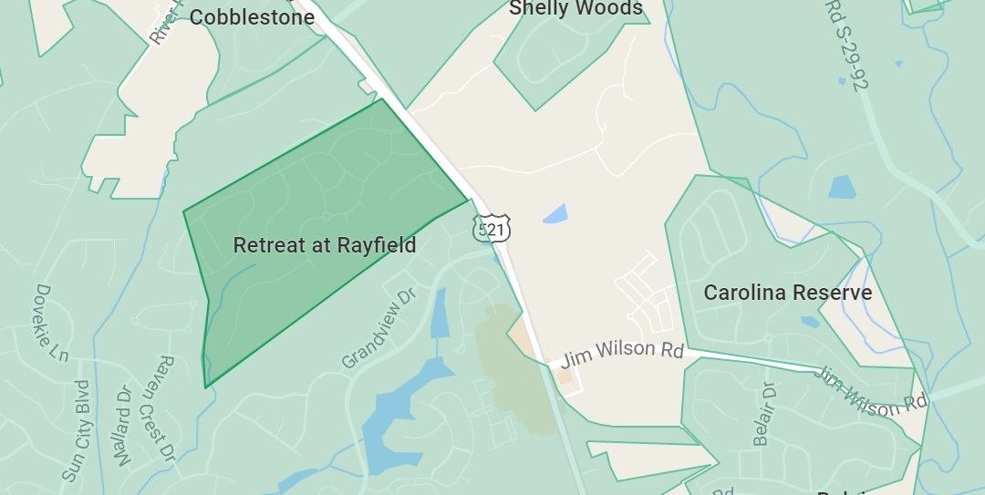 Retreat at Rayfield in Indian Land, SC MAP